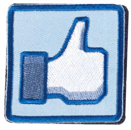 """Matrix """"Thumbs Up"""" 2"""" IFF Hook and Loop Morale Patch - Blue"""
