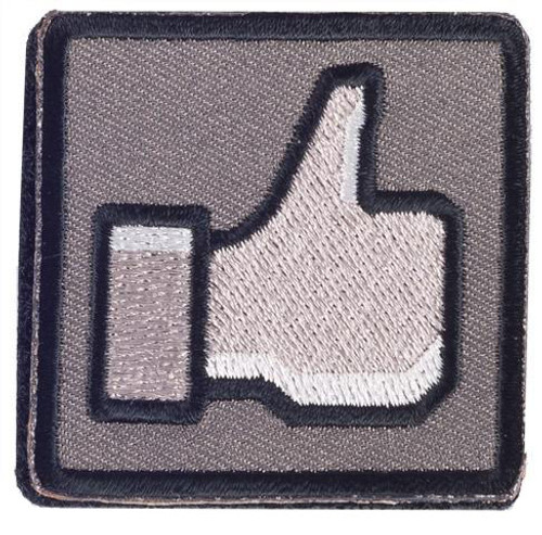 """Matrix """"Thumbs Up"""" 2"""" IFF Hook and Loop Morale Patch - Urban"""