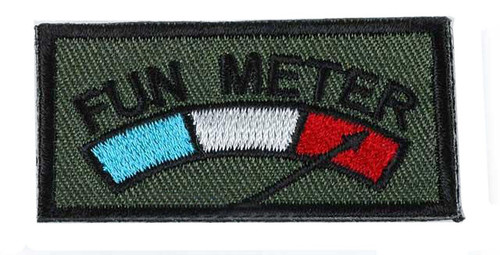 """Matrix Very Tactical IFF """"Fun Meter"""" Hook and Loop Patch (OD)"""