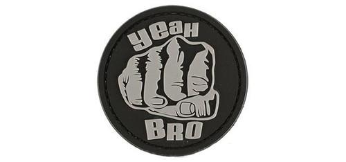 "Rubberized PVC ""Yeah Bro"" Tactical Patch - Black"