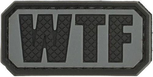 WTF Tactical PVC Morale Patch - Grey
