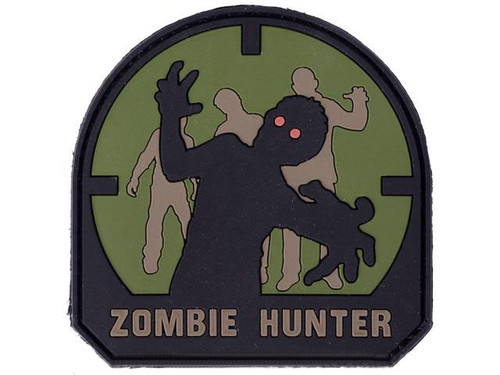 Zombie Hunter IFF PVC Rubber Hook and Loop Patch - 50mm / Forest