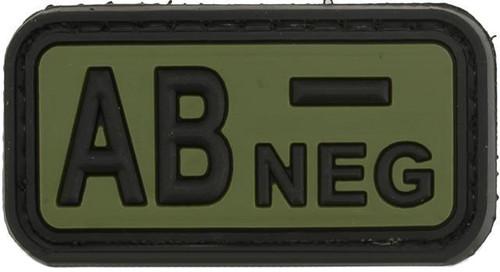 AB Negative PVC Patch - Green