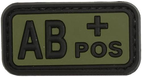 AB Positive PVC Patch - Green