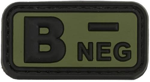 B Negative PVC Patch - Green