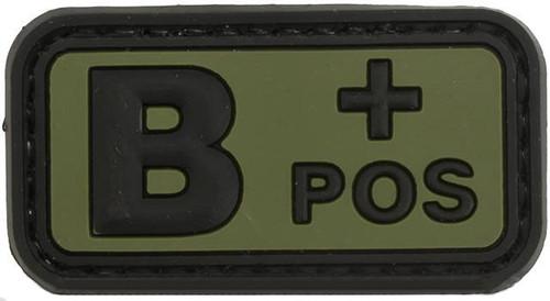 B Positive PVC Patch - Green