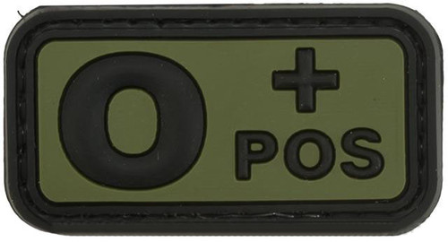 O Positive PVC Patch - Green