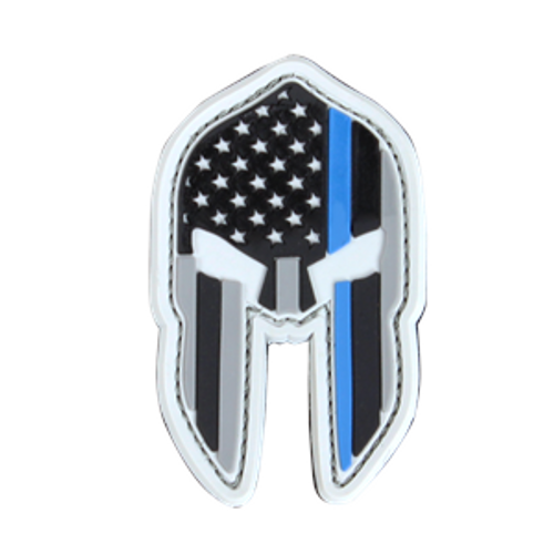Condor PVC Thin Blue Line Spartan Helmet Patch