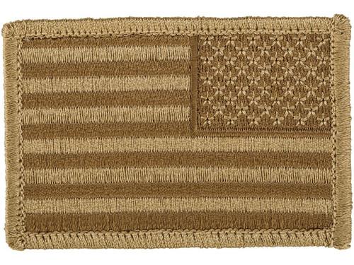 Matrix Hook and Loop U.S. IFF Flag Patch (Color: Desert / Reversed)