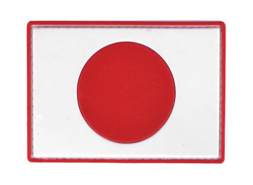 PVC Hook and Loop International Flag Patch (Flag: Japan)