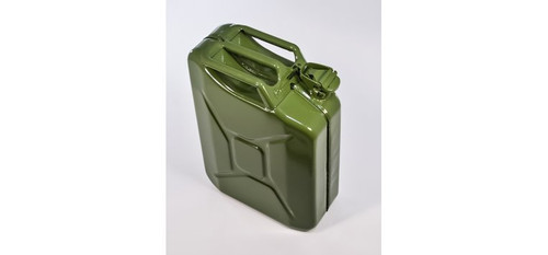 Military Style Steel Jerry/Fuel Can w/Spout - 20 Liter