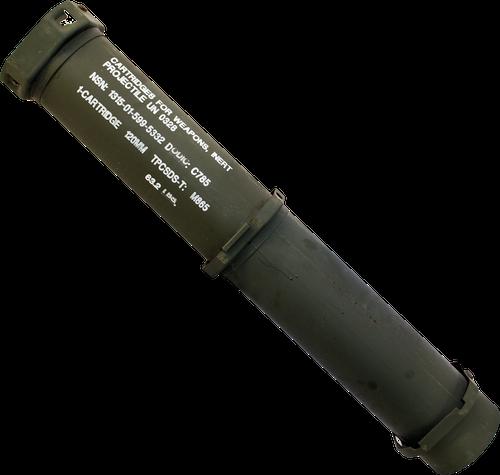 U.S. Armed Forces 120mm Mortar Waterproof Storage Tube