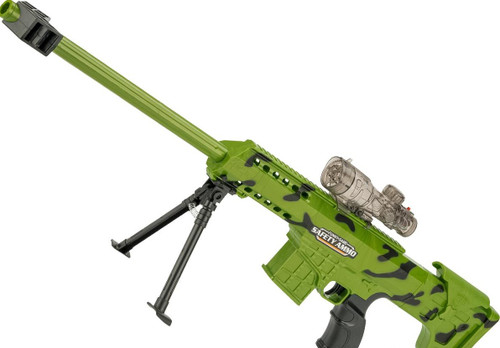 """ASP """"SWAT Sniper"""" Soft Bullet Automatic Sniper Rifle - Zombie Green"""