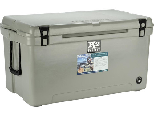 K2 Coolers Summit 90 Ice Chest (Color: Steel Grey)