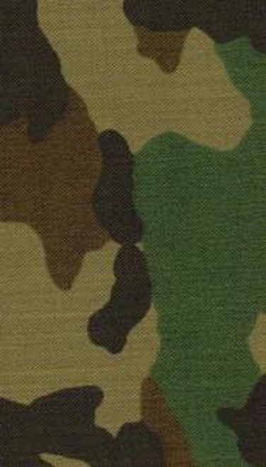 Woodland Camouflage  Material Polycotton/Twill - 1 yd