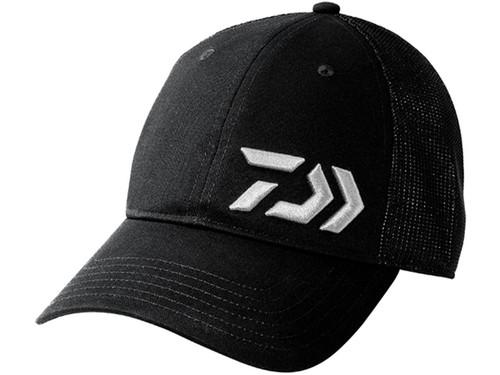 Daiwa D-VEC 3D Embroidered Logo Mesh Trucker Cap - Black