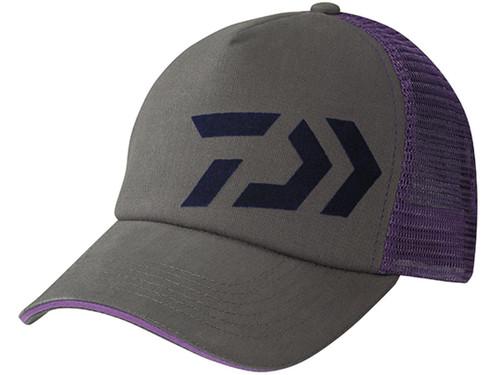 Daiwa D-Vec Mesh Trucker Cap - Grey / Violet