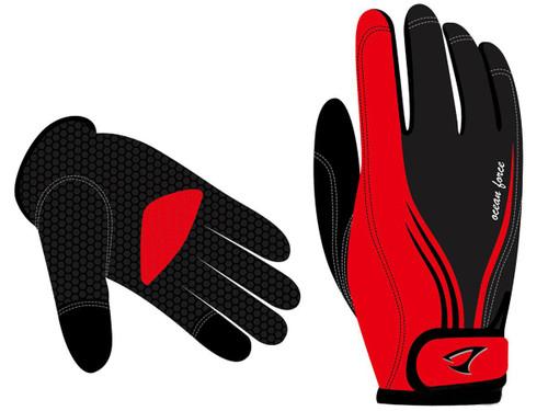 Jigging Master Ocean Force 3D Fishing Gloves (Model: Red Medium)