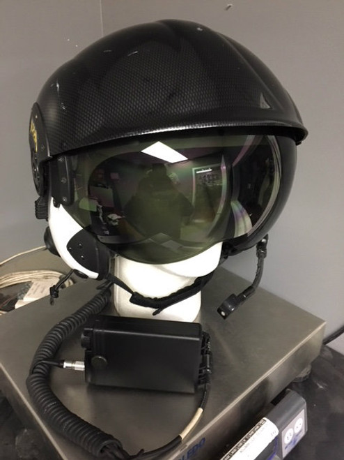Alpha Eagle Helicopter Helmet Dual Visor w/Carrying Case And Noise Cancelling ANR Box