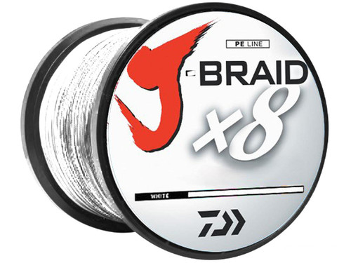 Daiwa J-Braid 330YDS / 300M 8-Strand Woven Round Braid Line - 30 Pounds / White