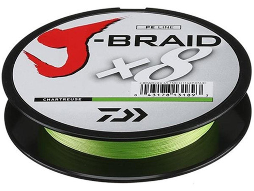 Daiwa J-Braid 8-Strand Woven Round Braid Line - 20 Pounds / Chartreuse / 330YDS / 300M
