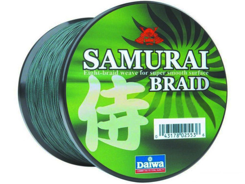 Daiwa Samurai Braid 8 Strand Woven Line - 100 Pounds / Green / 1500 Yards