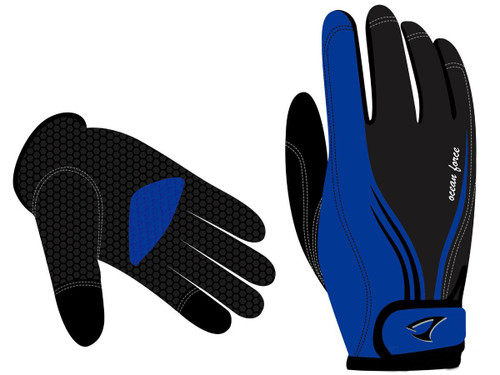 Jigging Master Ocean Force 3D Fishing Gloves (Model: Blue 2XL)