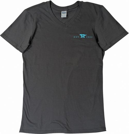 Womens T-Shirt Gray-Teal XL
