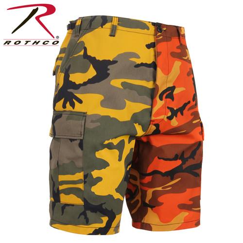 Rothco Two-Tone Camo BDU Short - Stinger Yellow/Savage Orange