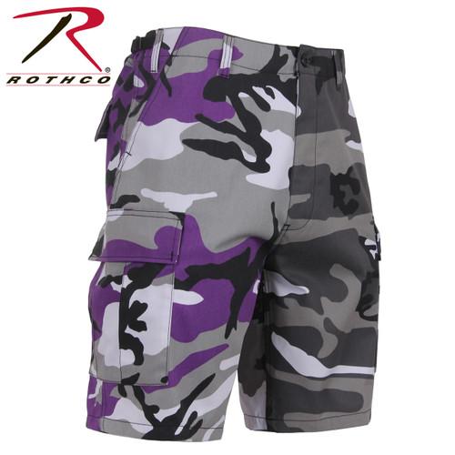 Rothco Two-Tone Camo BDU Short - Ultra Violet Purple/City Camo