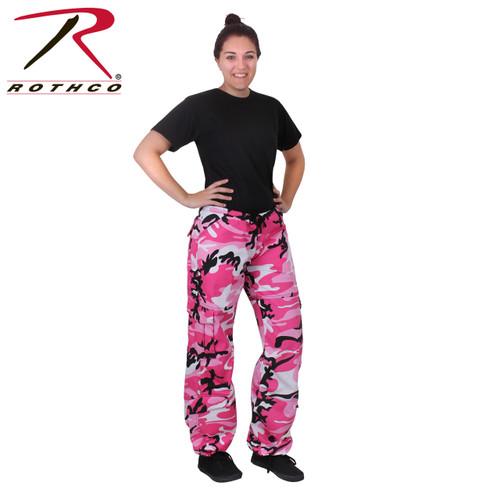 Rothco Women's Paratrooper Coloured Camo Fatigues - Pink Camo