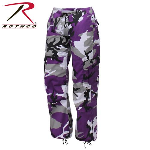 Rothco Women's Paratrooper Coloured Camo Fatigues - Ultra Violet Camo