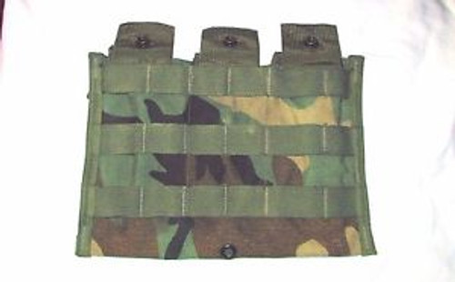 U.S. Armed Forces MOLLE II Woodland Camo 3 x 30  Round Mag Pouch