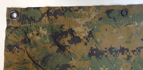 """USMC Reversible Wet Weather Tarp 80""""×90"""""""