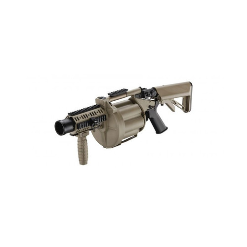 Multiple Airsoft and Paintball Grenade Launcher - Tan