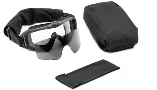 Revision Desert Locust Fan Tactical Goggles - Deluxe Kit w/Vermillion Lens - Black