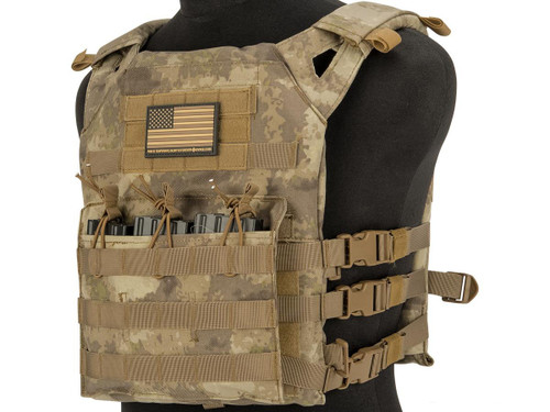 Matrix Level-1 Plate Carrier with Integrated Magazine Pouches (Color: Arid)