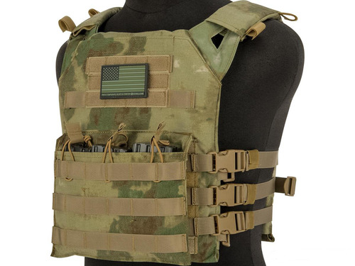Matrix Level-1 Plate Carrier with Integrated Magazine Pouches (Color: Arid Foliage)