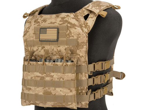 Matrix Level-1 Plate Carrier with Integrated Magazine Pouches (Color: Desert Digital)