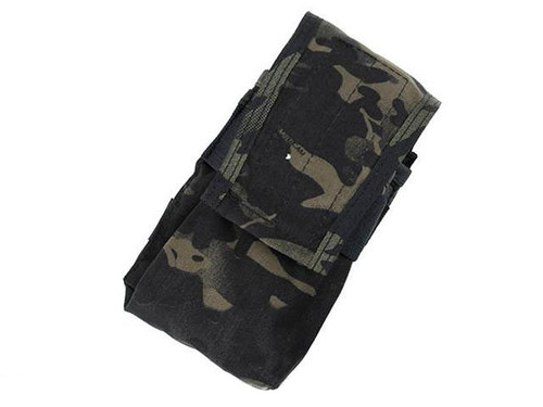 TMC Double Magazine Pouch for 417 Magazines - Multicam Black
