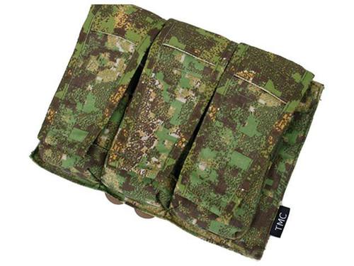 Avengers MOLLE AVS Style M4 / M16 Triple Mag Pouch - PenCott Greenzone