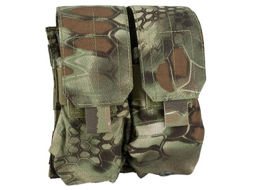 TMC Tactical MOLLE Double M4 / M16 Magazine Pouch - Forest Serpent