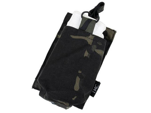 TMC Open Top Single Magazine Pouch for 417 Magazines - Multicam Black
