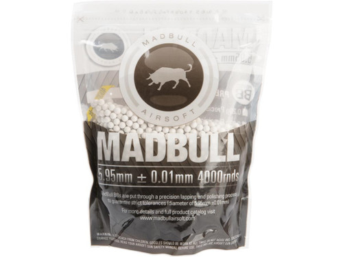 MadBull Premium Match Grade 6mm PLA Biodegradable Airsoft BB -.28g White/4000rd