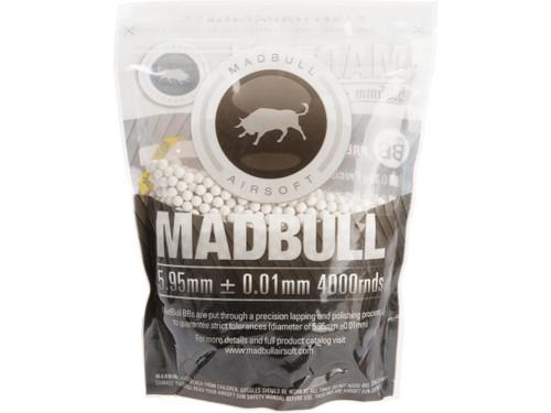 MadBull Premium Match Grade 6mm PLA Biodegradable Airsoft BB - 30g White/4000rd