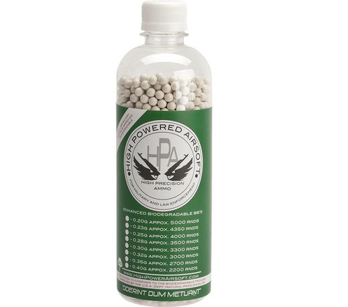 High Power Airsoft (HPA) US Lab Tested Precision Biodegradable 6mm Airsoft BBs (Weight: .40g / 2500rds)