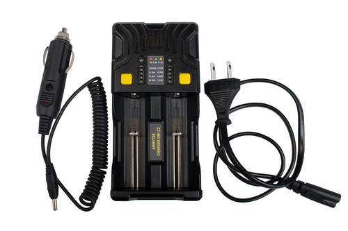 Armytek Uni C2 Universal Charger / 2 channels x 1A current for each /  LED indication + auto adapter