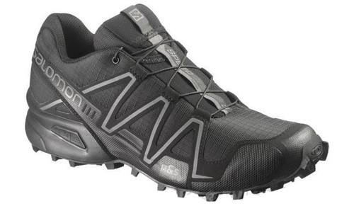 Salomon SpeedCross 3 Forces Running Shoes - Black / Black / Autobahn (Size: 8)