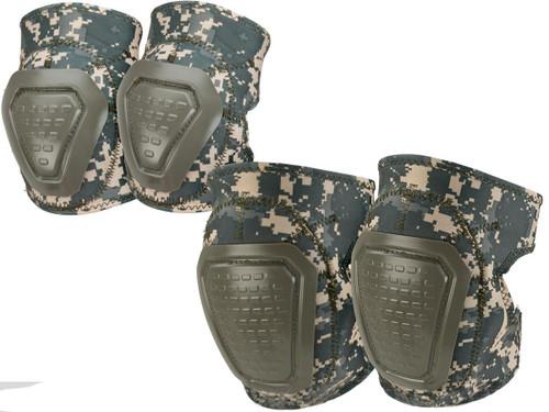 Matrix Bravo Advanced Neoprene Tactical Knee and Elbow Pad Set (Color: ACU)