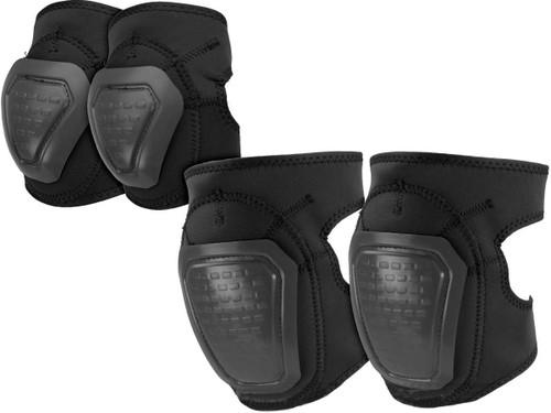 Matrix Bravo Advanced Neoprene Tactical Knee and Elbow Pad Set (Color: Black)